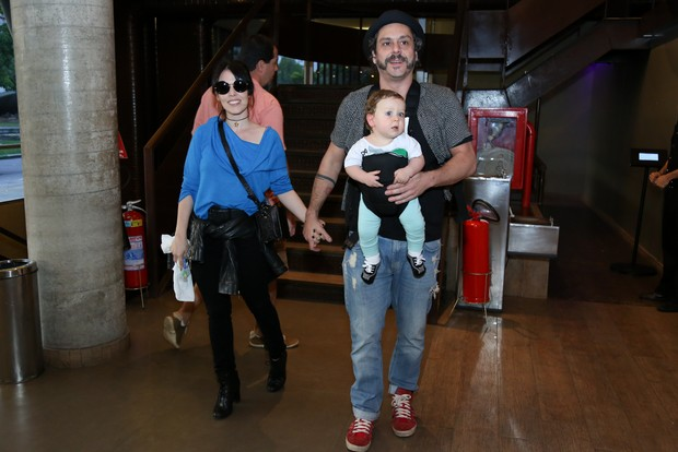 Alexandre Nero, Karen Brusttolin e Noa Nero (Foto: Roberto Filho / BRAZIL NEWS)