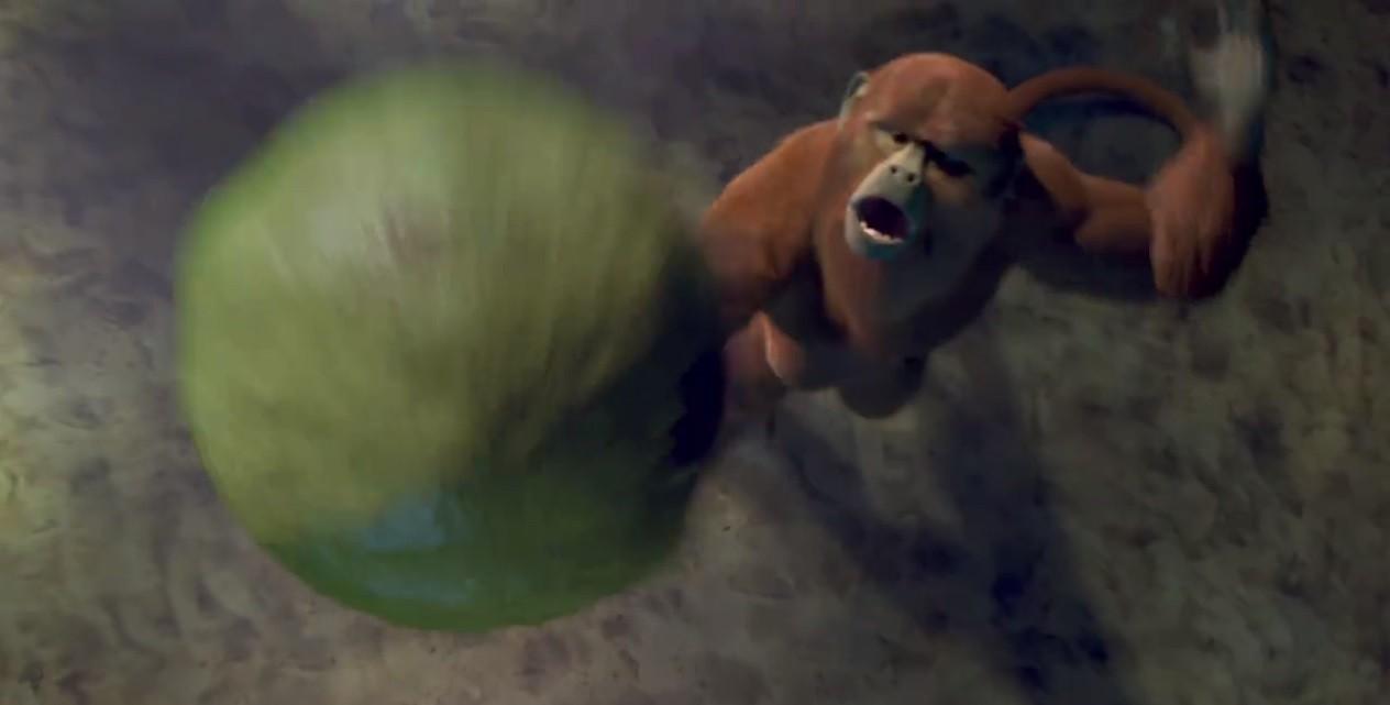 Macaco joga vôlei em animação da BBC na contagem regressiva para a Olimpíada