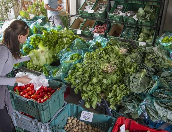 Feira de produtos orgânicos (Foto: Rogério Albuquerque / Editora Globo.)