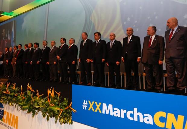 Presidente Michel Temer durante Sessão Solene de Abertura da XX Marcha a Brasília em Defesa dos Municípios (Foto: Marcos Corrêa/PR)