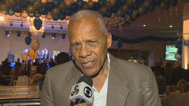 Dadá Maravilha, ex jogador do clube, durante entrevista à TV Amazonas (Foto: Amazônia TV)