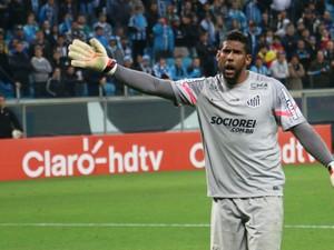 Aranha reclama de insultos ocorridos na Arena do Grêmio (Foto: Diego Guichard)