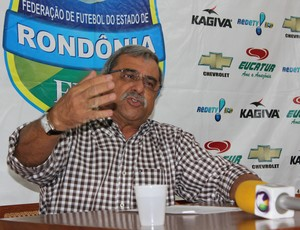 Heitor da Costa, presidente da Federação de Futebol de Rondônia (Foto: Hugo Crippa)