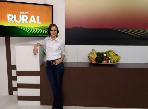 Ana Cláudia Mendes apresenta Inter TV Rural depois de período de férias (Foto: Ana Cláudia/Arquivo pessoal)