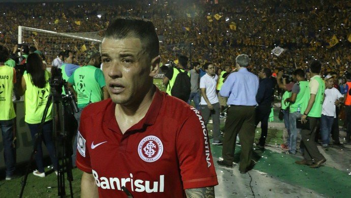 Tigres Inter Libertadores festa jogo D'Alessandro (Foto: Diego Guichard/GloboEsporte.com)