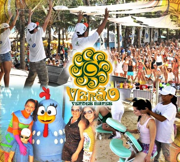 TV Verdes Mares realiza atividades de férias na Praia do Futuro (Foto: Divulgação)