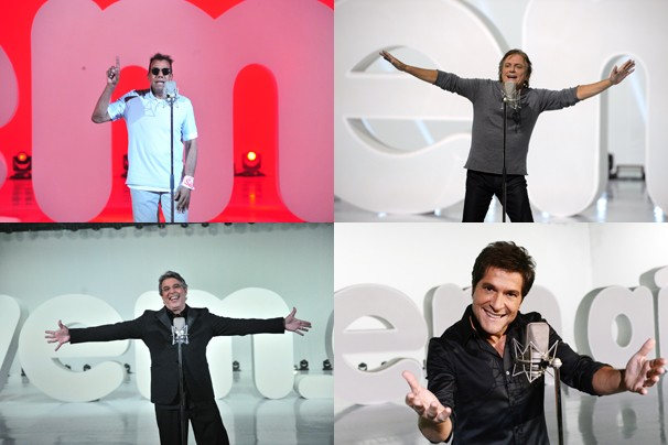 Cantores de todos os tempos e idades: Jorge Benjor, Fábio Jr., Ivan Lins e Daniel (Foto: João Miguel JR./Rede Globo)