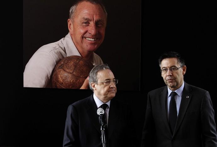 Florentino Pérez Josep Maria Bartomeu memorial Cruyff Barcelona (Foto: Efe)