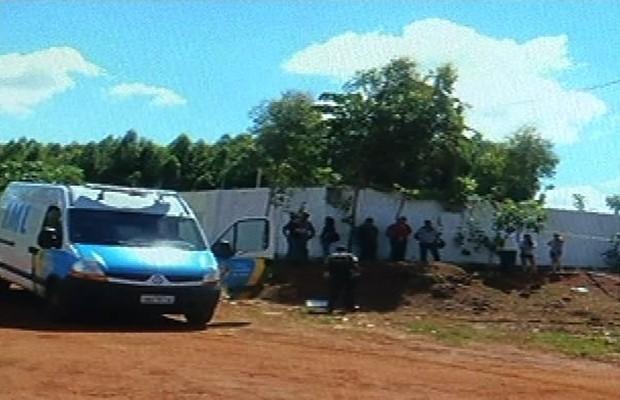 Dono de Motel é assassinado no próprio estabelecimento, em Serranópolis (Foto: Reprodução/TV Anhanguera)