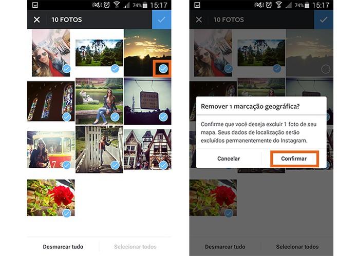 Remova as fotos que preferir do Mapa pelo Instagram (Foto: Reprodução/Barbara Mannara)
