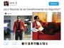 Neymar é comparado ao personagem Foguinho, de Lázaro Ramos, na web