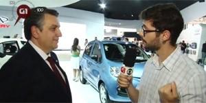 VÍDEOS: 'popular' chinês, novo Jaguar, Porsche Cayenne (Luciano Cury/G1)