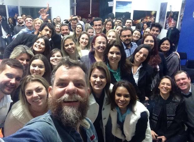 Marcos Piangers compartilhou experiências com os convidados (Foto: Divulgação)