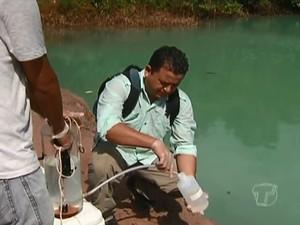 Análise inicial apontou que quantidade de oxigênio é significativa (Foto: Reprodução/ TV Tapajós)