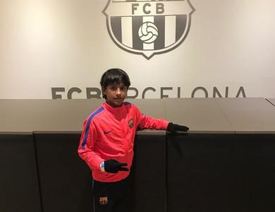 Emanuel Manu Barcelona joia Grêmio (Foto: Arquivo Pessoal)
