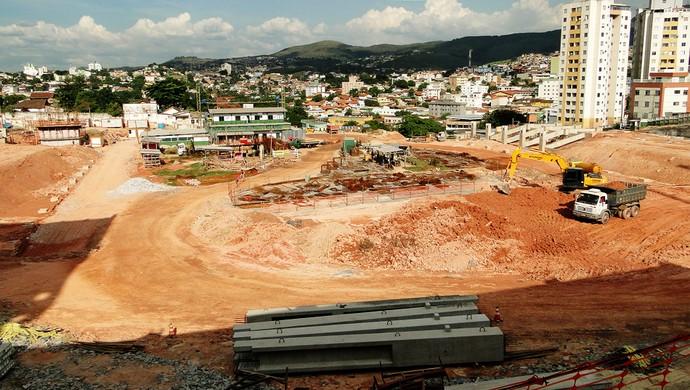 estádio Independência  obras (Foto: Tarcísio Badaró/Globoesporte.com)