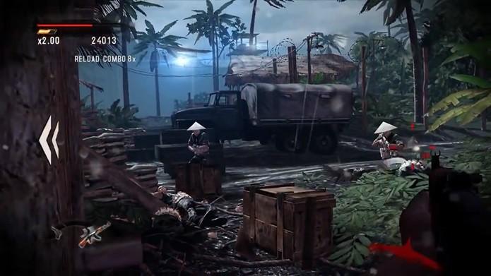 Tiroteio em Rambo: The Video Game é chato (Foto: Reprodução / Dario Coutinho)