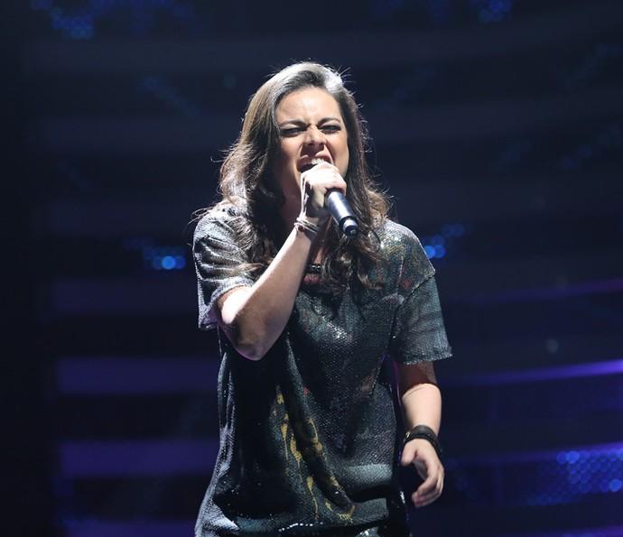 Cibelle canta no Iluminados, do Domingão (Foto: Carol caminha / Gshow)