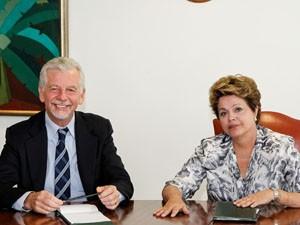 José Fortunati e Dilma Rousseff reunidos em Brasília (Foto: Divulgação/Prefeitura Porto Alegre)