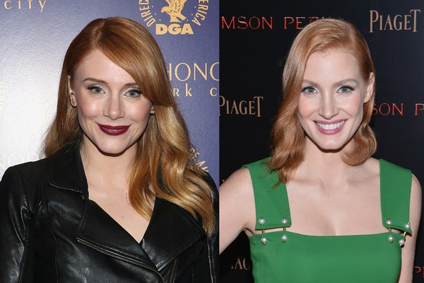 As atrizes Bryce Dallas Howard e Jessica Chastain (Foto: Getty Images)