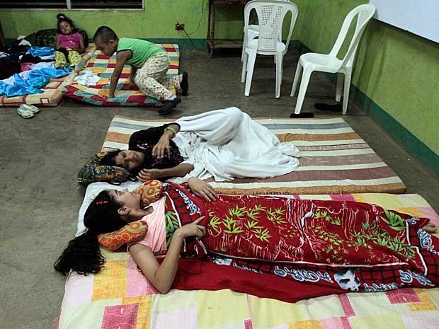 Pessoas se abrigam em um abrigo em Manágua, na Nicarágua. (Foto: Oswaldo Rivas / Reuters)