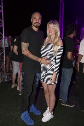 Ex-BBBs Fernando Medeiros e Aline Gotschalg em festa no Rio (Foto: Felipe Panfili/ Divulgação)