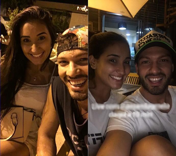 Luiz Felipe e Amanda posam juntos em rede social (Foto: Instagram @luizfelipebari)