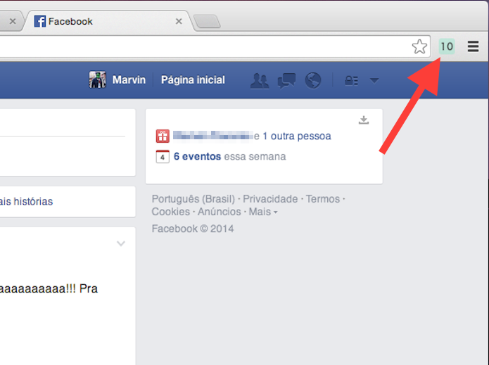 Clique sobre o contador de visitas do Back Again no Google Chrome (Foto: Reprodução/Marvin Costa)