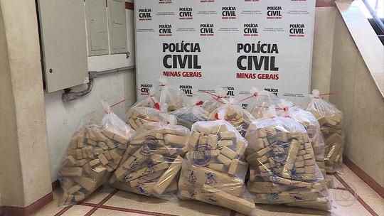 Polícia apreende cerca de meia tonelada de maconha dentro de casa na Grande BH