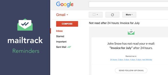 Extensão dá double-checks nos seus e-mails lidos (Divulgação/Mailtrack)