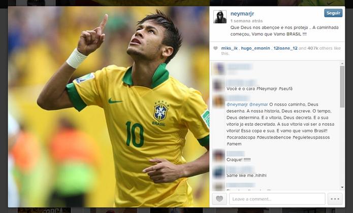 Instagram deve reunir fotos de famosos e anônimos a respeito da Copa do Mundo (Foto: Reprodução/Elson de Souza)