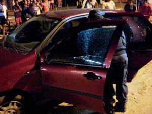 Italiano foi baleado na noite desta terça-feira (18) na Rota do Sol, em Natal (Foto: Sérgio Costa/Portal BO)