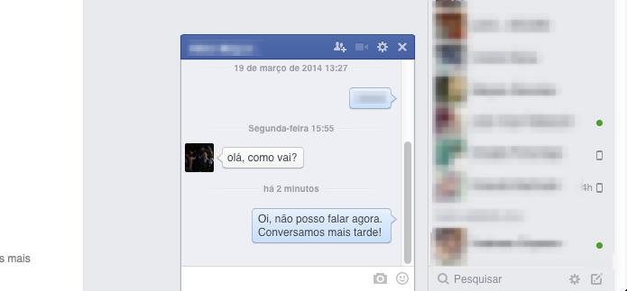 Resposta adicionada ao chat do Facebook (Foto: Reprodução/Helito Bijora)