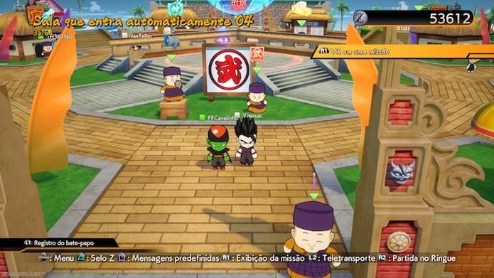 Dragon Ball FighterZ segue uma estrutura de MMO com lobby offline e online (Foto: Reprodução / Victor Teixeira)