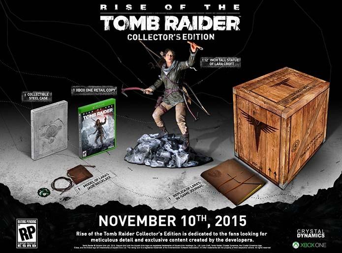 Edição limitada conta com estátua de Lara (Foto: Divulgação/Crystal Dynamics)