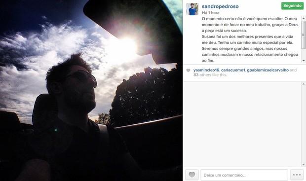 Sandro Pedroso (Foto: Instagram / Reprodução)