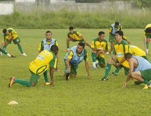 Jogadores do Paragominas retornam aos treinamentos nesta quarta-feira (Foto: Marcelo Seabra/O Liberal)