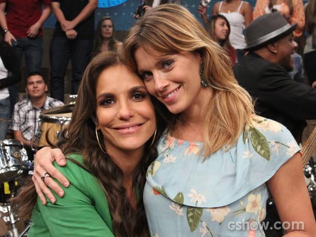 Carolina Dieckman e Ivete (Foto: Altas Horas / TV Globo)