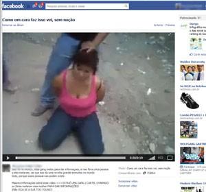 Reprodução de página do Facebook que mostra vídeo de mulher sendo decapitada e que não pode ser retirado do ar pelo Facebook (Foto: Reprodução/Facebook)