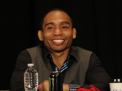 John Dodson UFC 187 coletiva de imprensa (Foto: Evelyn Rodrigues)