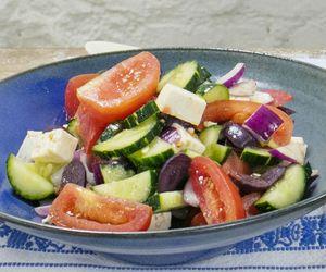 Salada grega da Rita Lobo