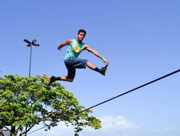 Campeonato de Slackline será atração no 'Festival Quebramar' (Foto: Raul Lima/Arquivo Pessoal)