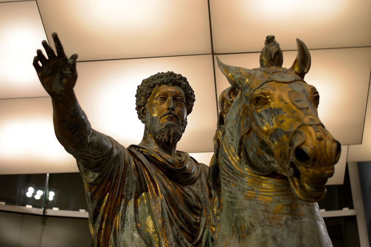 Estátua de Marco Aurélio no Museu Capitolini, Roma (Foto: Wikimedia Commons)