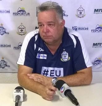 Josué Teixeira, coletiva de imprensa do Macaé (Foto: Junior Costa)