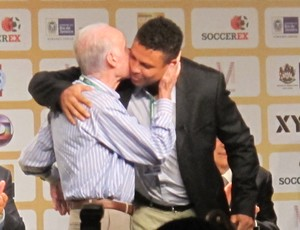 zagallo ronaldo Soccerex (Foto: Marcelo Baltar/Globoesporte.com)