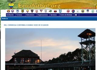 Equador confirma Viamão como local de treinamentos para a Copa de 2014 (Foto: Reprodução)