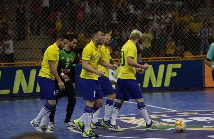 Brasil x Paraguai, futsal, Brasil, Paraguai, Sorocaba (Foto: Yuri Gomes/ Elite Comunicação)