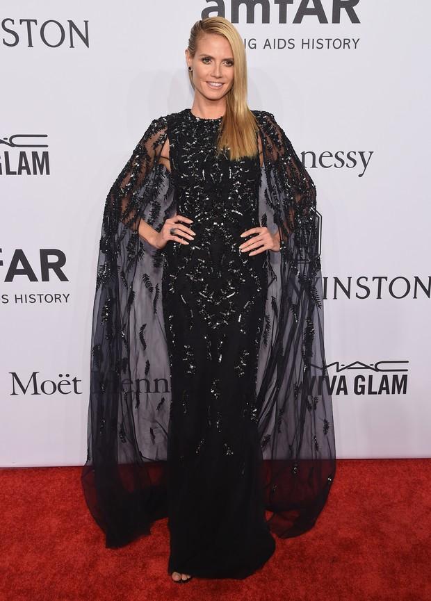 Heidi Klum em evento em Nova York, nos Estados Unidos (Foto: Michael Loccisano/ Getty Images/ AFP)