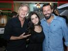 Marcello Novaes, Giovanna Lancellotti e Henri Castelli curtem a noite carioca