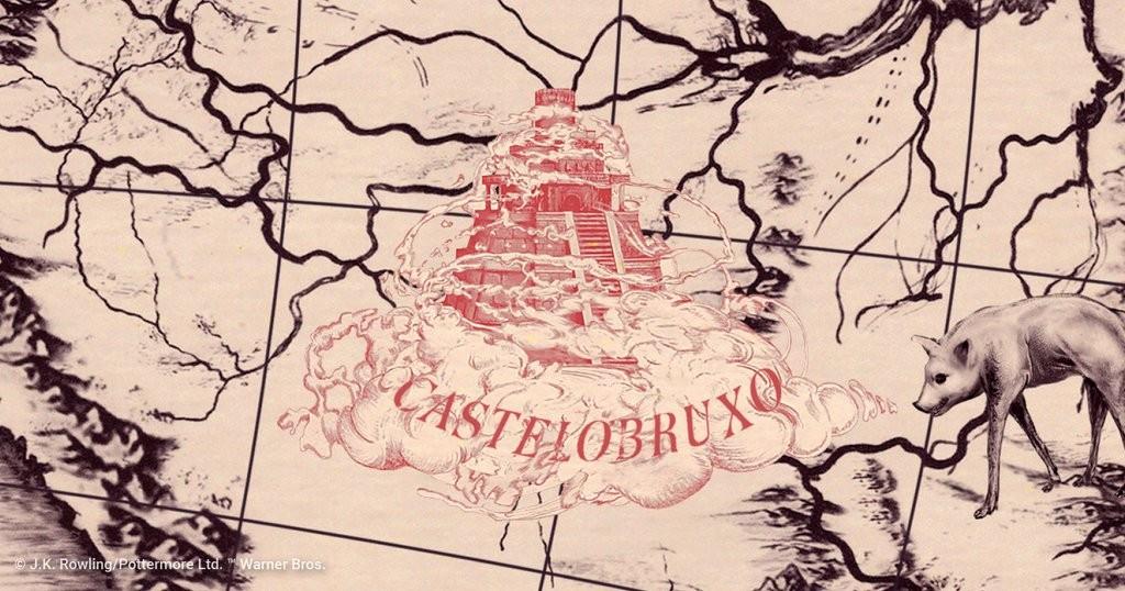 Localização da escola Castelobruxo foi revelada em mapa publicado pelo site Pottermore, também exibido em um evento (Foto: Reprodução)